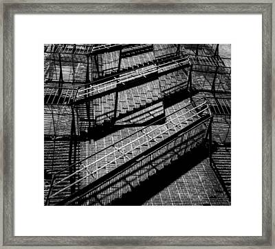 Fire Escape With Shadow Detail Framed Print