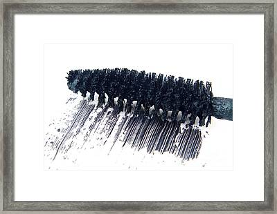 Black Mascara Framed Print by Blink Images