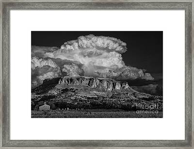 Black Mesa Framed Print by Keith Kapple