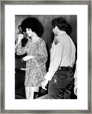 Black Militant Angela Davis Gives Framed Print by Everett