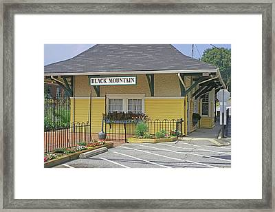 Framed Print featuring the photograph Black Mountain Train Depot by Lou Belcher