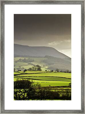 Black Mountains Framed Print by Ginny Battson