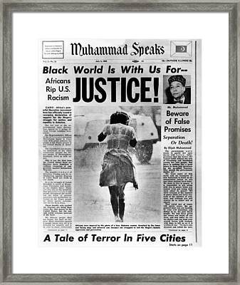 Black Muslim Newspaper, Muhammad Framed Print