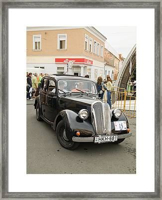 Black Old Car Framed Print by Odon Czintos