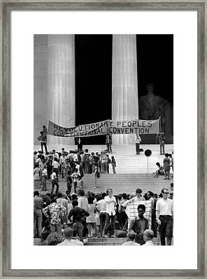 Black Panther Convention, People Framed Print by Everett