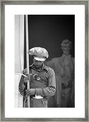 Black Panthers At The Lincoln Memorial - 1970 Framed Print by International  Images
