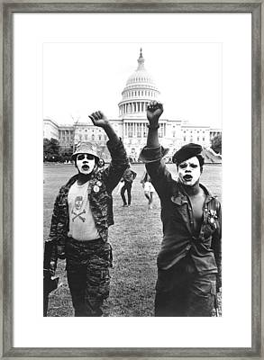 Black Panthers In Washington, Dc, 1967 Framed Print by Everett