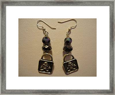 Black Pirate Earrings Framed Print by Jenna Green