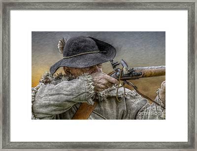 Black Powder Rifle Framed Print by Randy Steele