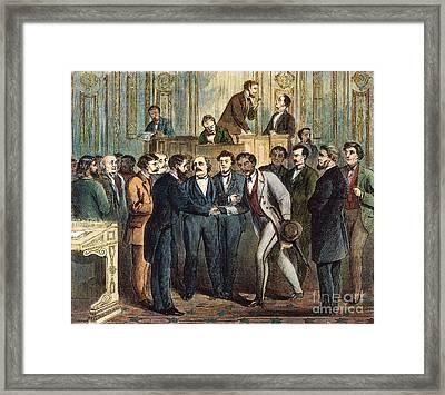 Black Representative, 1868 Framed Print