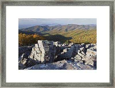 Black Rock Mountain Shenandoah National Park Framed Print by Pierre Leclerc Photography