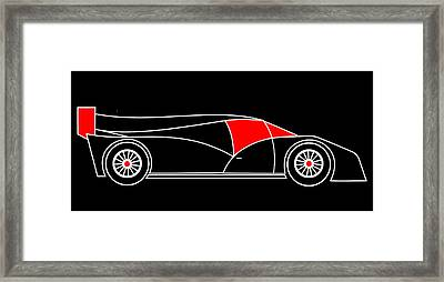 Black Rocket Racing Car Virtual Car Framed Print by Asbjorn Lonvig
