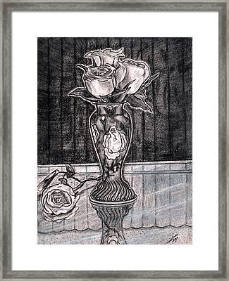 Black Roses Framed Print by Lee McCormick