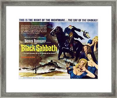 Black Sabbath, Aka I Tre Volti Della Framed Print by Everett