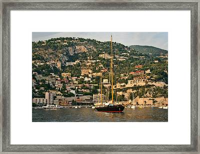 Framed Print featuring the photograph Black Sailboat by Steven Sparks