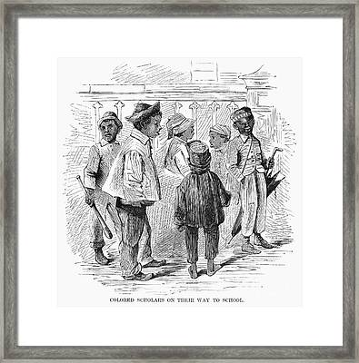 Black School Children Framed Print