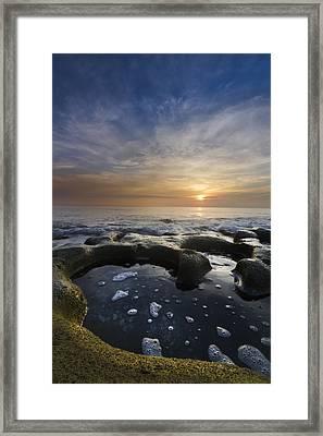 Black Sea Framed Print by Debra and Dave Vanderlaan