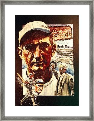 Black Sox Framed Print by Ken Meyer jr