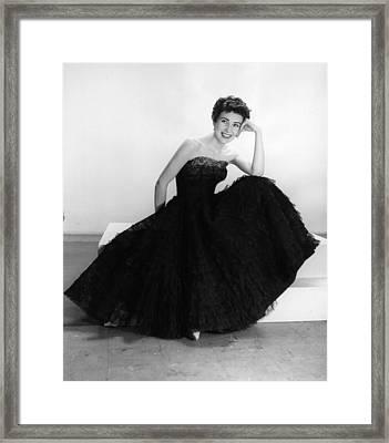 Black Summer Dress Framed Print by Kurt Hutton