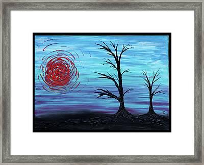 Black Trees Framed Print by Erik Tanghe