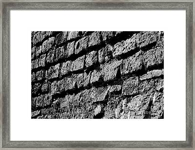 Black Wall Framed Print