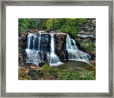 Framed Print featuring the photograph Black Water Falls by Mark Dodd