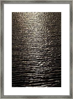Black Water Framed Print by Miguel Capelo