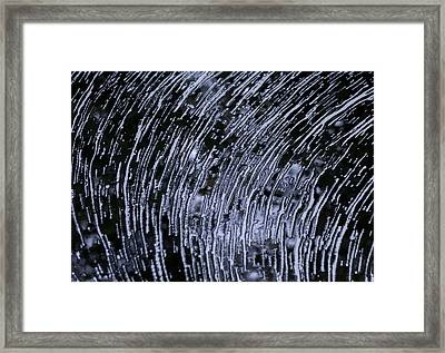 Black Water White Foam Framed Print