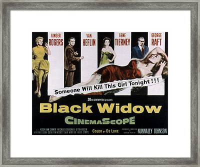 Black Widow, Ginger Rogers, Van Heflin Framed Print by Everett
