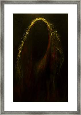Black Widow Pulsar Framed Print by Alizey Khan