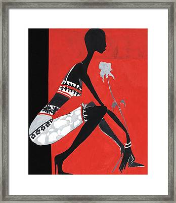 Black Woman Framed Print