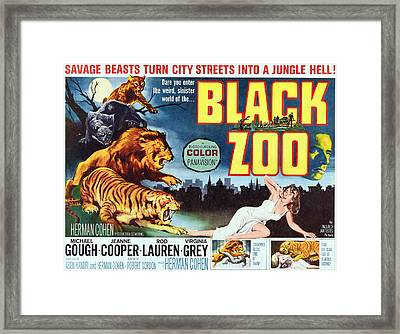 Black Zoo, Middle Right Michael Gough Framed Print