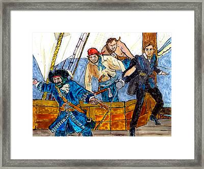 Blackbeard And Flynn Framed Print by Phil Strang