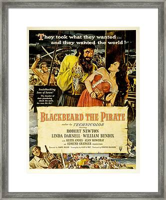 Blackbeard The Pirate, Poster Art Framed Print