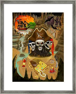 Blackbeard's Haunted Treasure Framed Print by Glenn Holbrook