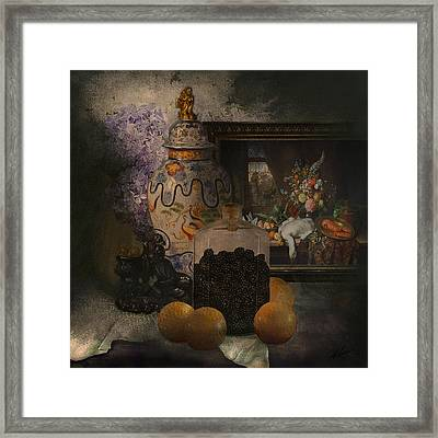 Blackberries With Oranges Framed Print by Jeff Burgess