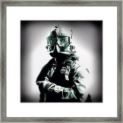Blackhawk Pilot #blackhawk #heli Framed Print