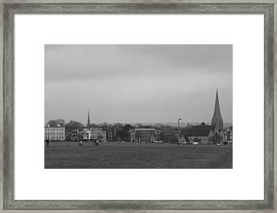 Framed Print featuring the photograph Blackheath Village by Maj Seda
