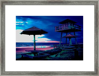 Blacklight Tower Framed Print by DigiArt Diaries by Vicky B Fuller