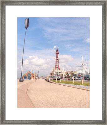 Blackpool Tower And Oar Framed Print by Sarah Couzens