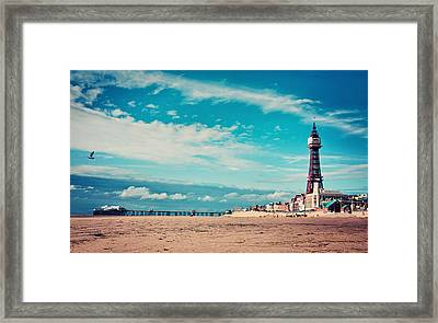 Blackpool Tower And Pier Framed Print