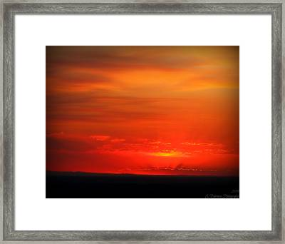 Blacks And Reds Framed Print by Aaron Burrows