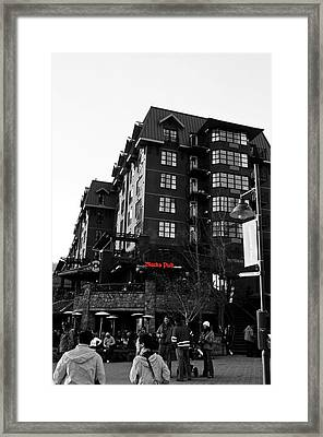 Framed Print featuring the photograph Blacks Pub Whistler Canada by JM Photography