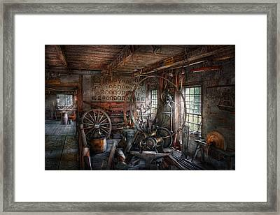 Blacksmith - That's A Lot Of Hoopla Framed Print by Mike Savad