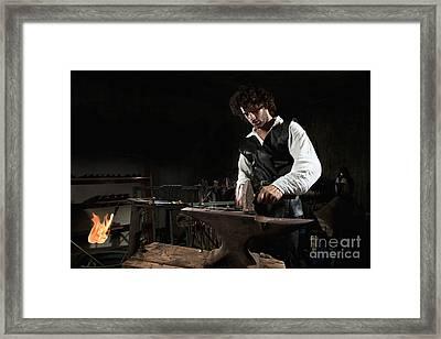 Blacksmith  Framed Print by Yedidya yos mizrachi