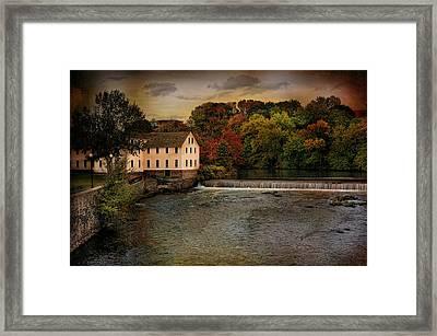 Blackstone River Mill Framed Print by Robin-Lee Vieira
