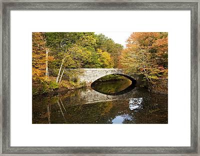 Blackstone Valley River Bridge Framed Print