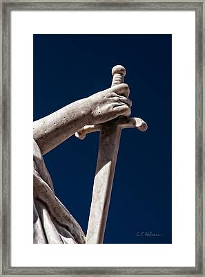 Blade In Hand Framed Print by Christopher Holmes