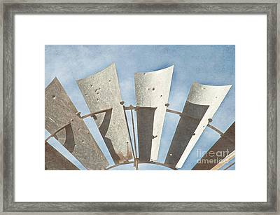 Blades - Texture Framed Print by Bob and Nancy Kendrick