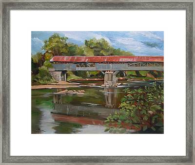 Blair Bridge Campton New Hampshire Framed Print